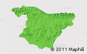 Political 3D Map of Bouira, cropped outside