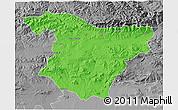Political 3D Map of Bouira, desaturated