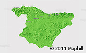 Political 3D Map of Bouira, single color outside