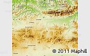 Physical Map of Bouira