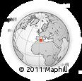 Outline Map of Bouira