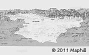 Gray Panoramic Map of Bouira