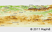 Physical Panoramic Map of Bouira