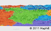 Political Panoramic Map of Bouira