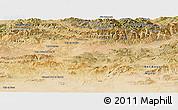 Satellite Panoramic Map of Bouira