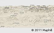 Shaded Relief Panoramic Map of Bouira