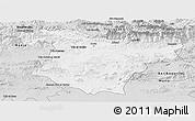 Silver Style Panoramic Map of Bouira