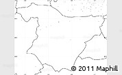 Blank Simple Map of Bouira, no labels