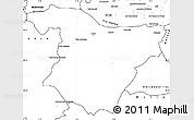 Blank Simple Map of Bouira