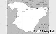 Gray Simple Map of Bouira