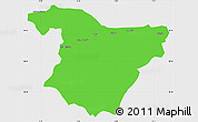 Political Simple Map of Bouira, single color outside