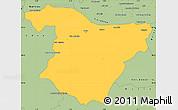 Savanna Style Simple Map of Bouira
