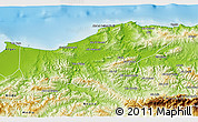 Physical 3D Map of Boumerdes