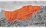 Political 3D Map of Boumerdes, desaturated
