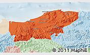 Political 3D Map of Boumerdes, lighten