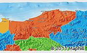 Political 3D Map of Boumerdes