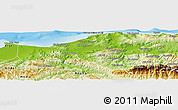 Physical Panoramic Map of Boumerdes