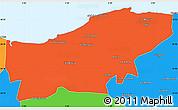 Political Simple Map of Boumerdes