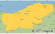 Savanna Style Simple Map of Boumerdes
