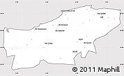 Silver Style Simple Map of Boumerdes, cropped outside