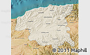 Shaded Relief Map of Chlef, satellite outside