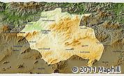 Physical 3D Map of Constantine, darken