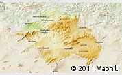 Physical 3D Map of Constantine, lighten