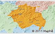 Political 3D Map of Constantine, lighten
