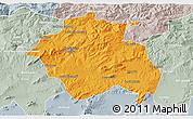 Political 3D Map of Constantine, lighten, semi-desaturated