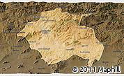 Satellite 3D Map of Constantine, darken
