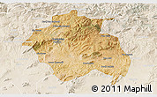 Satellite 3D Map of Constantine, lighten
