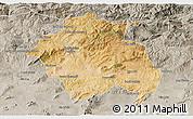 Satellite 3D Map of Constantine, semi-desaturated