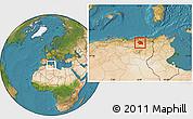 Satellite Location Map of Constantine