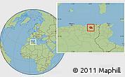 Savanna Style Location Map of Constantine