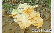 Physical Map of Constantine, darken