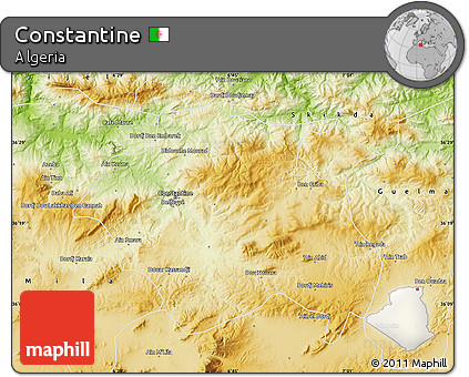 Physical Map of Constantine