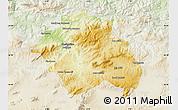 Physical Map of Constantine, lighten