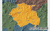 Political Map of Constantine, darken, semi-desaturated