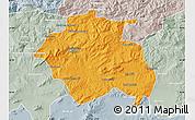 Political Map of Constantine, lighten, semi-desaturated