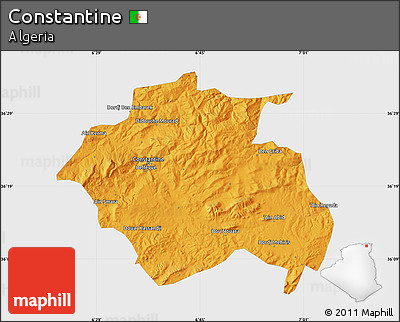 Political Map of Constantine, single color outside