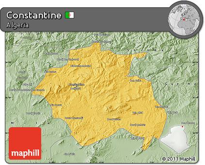 Savanna Style Map of Constantine