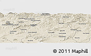 Shaded Relief Panoramic Map of Constantine