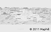 Silver Style Panoramic Map of Constantine