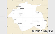 Classic Style Simple Map of Constantine, single color outside