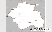 Gray Simple Map of Constantine, cropped outside