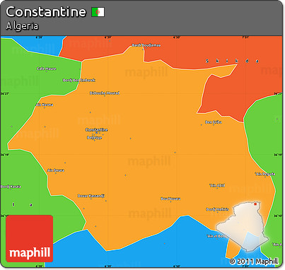 Political Simple Map of Constantine
