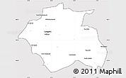 Silver Style Simple Map of Constantine, cropped outside