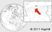 Blank Location Map of Djelfa