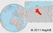 Gray Location Map of Djelfa