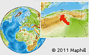 Physical Location Map of Djelfa